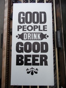Good Beer Sign